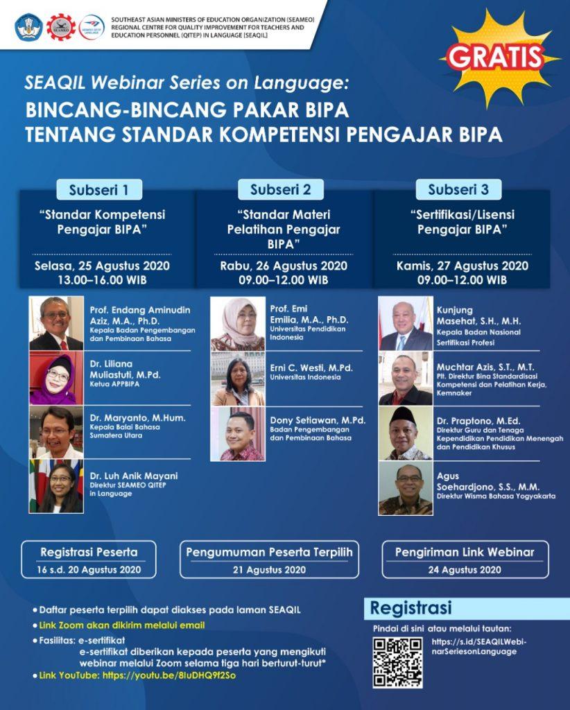 Bincang-bincang Pakar BIPA tentang Standar Kompetensi Pengajar BIPA